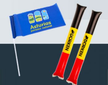 Clapsticks and flags